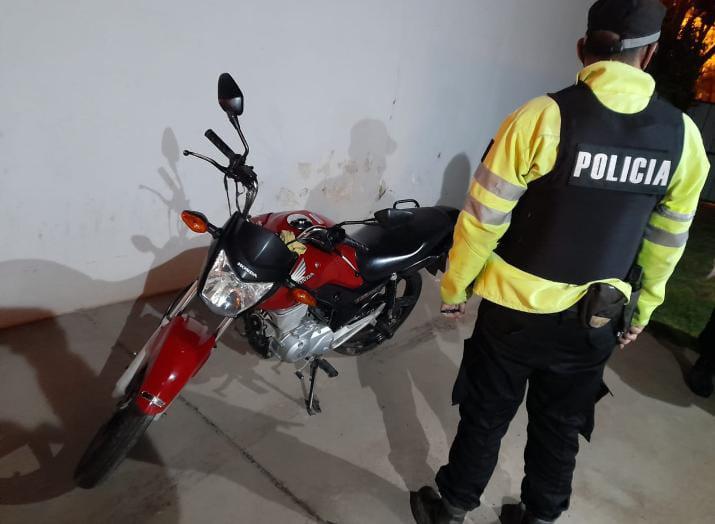 Recuperan una moto robada en Suardi