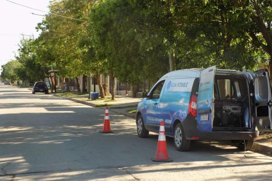 Continúa la obra de ampliación de la red de agua potable en Morteros