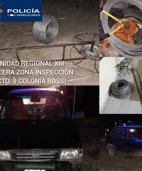 Un detenido y secuestro de cables de aluminio en Bossi