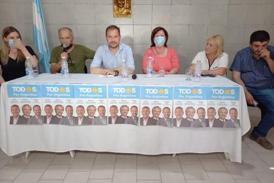 En campaña Martín Gill planteó propuestas del Frente de Todos