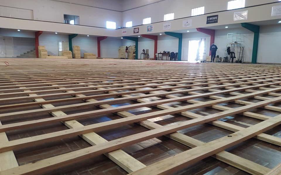 Tiro inició la construcción del nuevo estadio de Vóley con piso flotante